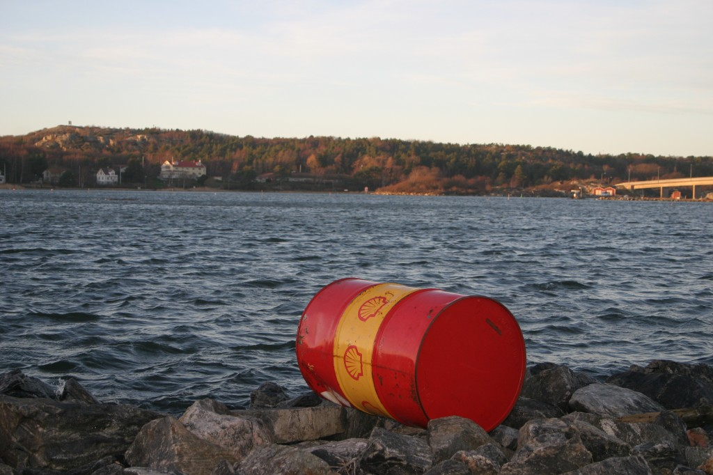 oil drum at sea