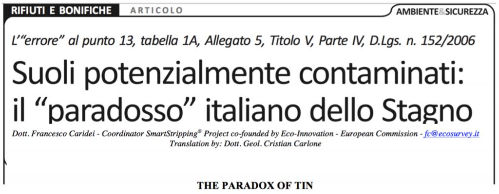 Tin paradox article head
