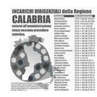 incarichi dirigenti regione Calabria senza procedura selettiva