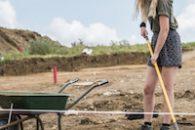 soil excavation girl