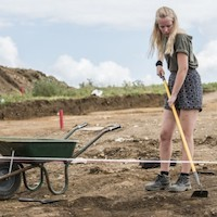 soil excavation girl