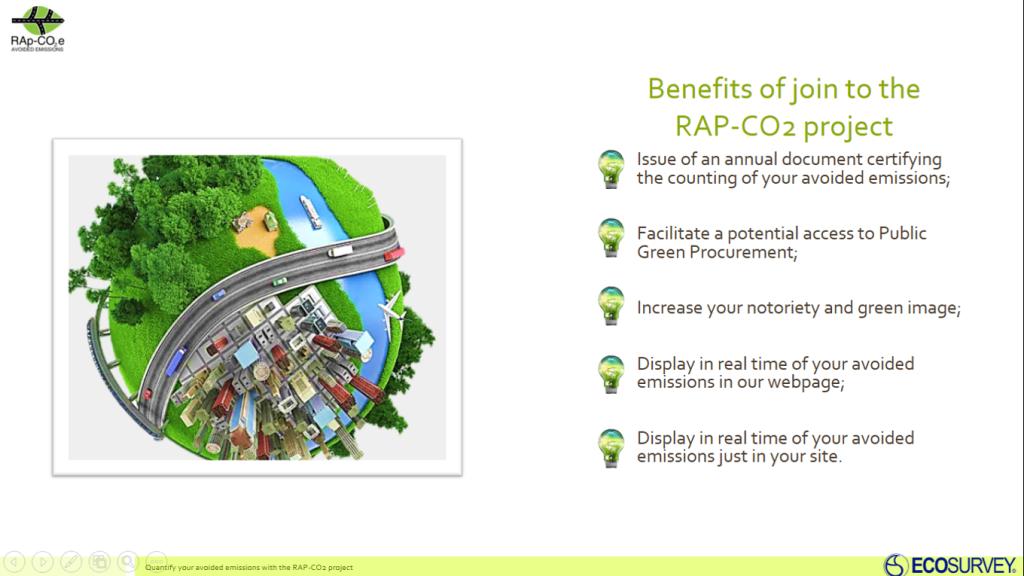 Benefici per l'adesione al progetto RAP-CO2